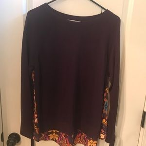 Long sleeve, purple LOFT top